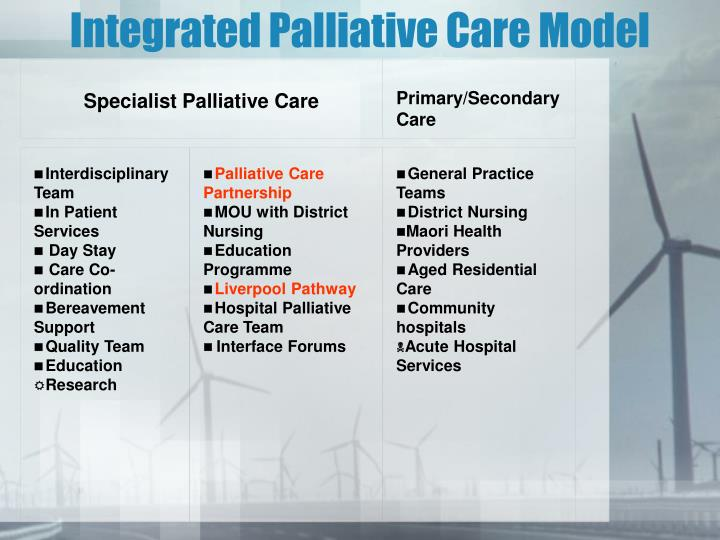Integrated Palliative Care Model