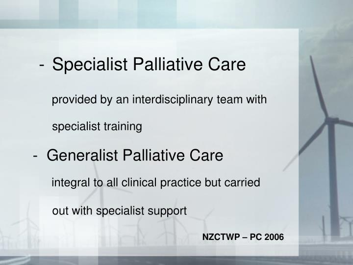 Specialist Palliative Care