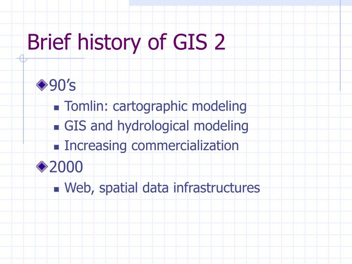 Brief history of GIS 2