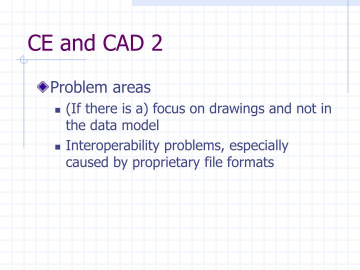 CE and CAD 2