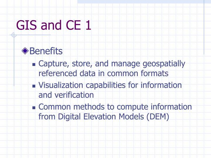 GIS and CE 1