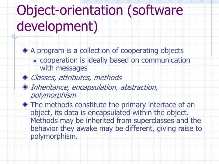 Object-orientation (software development)