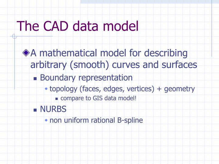 The CAD data model