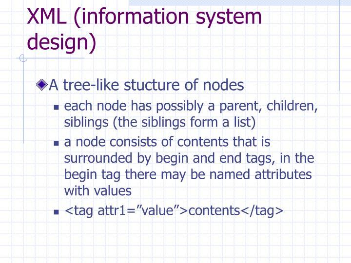XML (information system design)