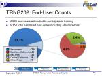 trng202 end user counts