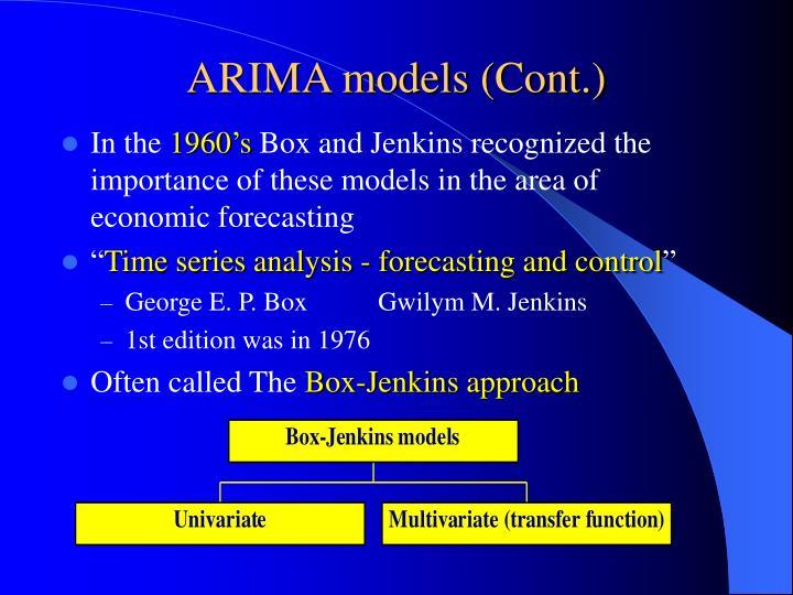 ARIMA models (Cont.)