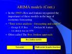 arima models cont