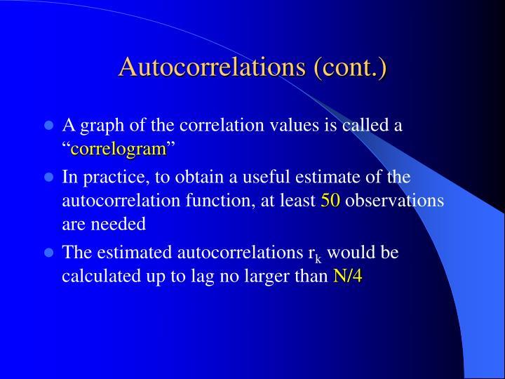 Autocorrelations (cont.)