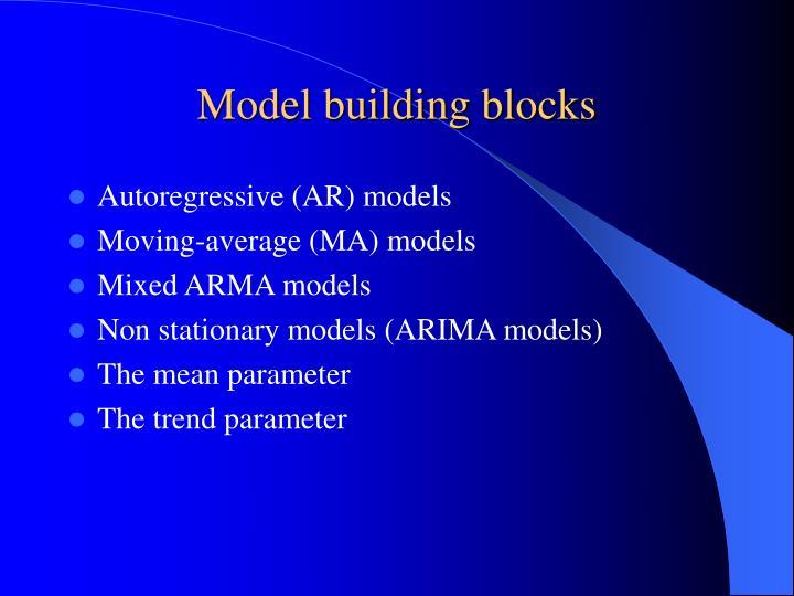 Model building blocks