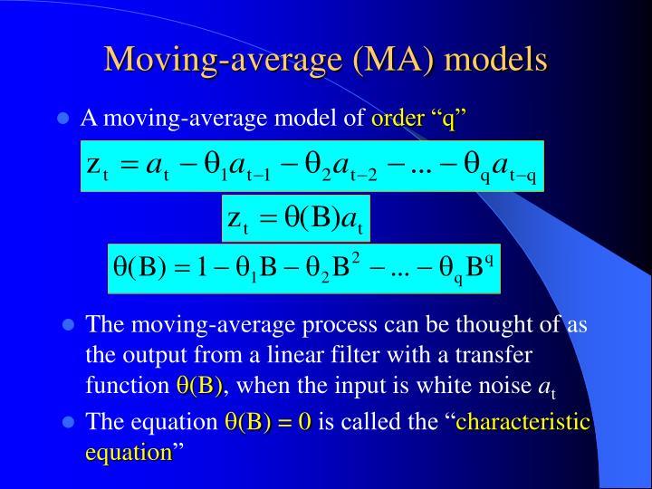 Moving-average (MA) models