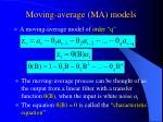 moving average ma models
