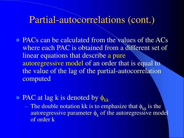 Partial-autocorrelations (cont.)