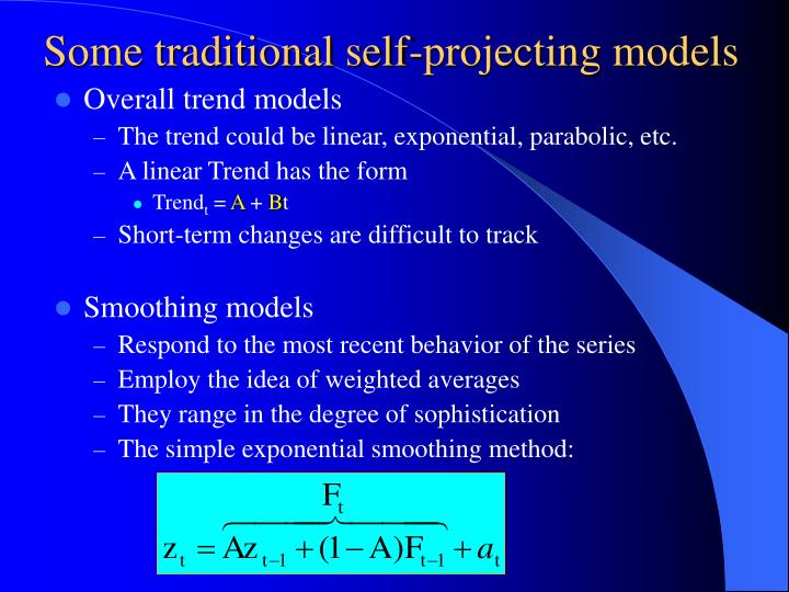 Some traditional self-projecting models