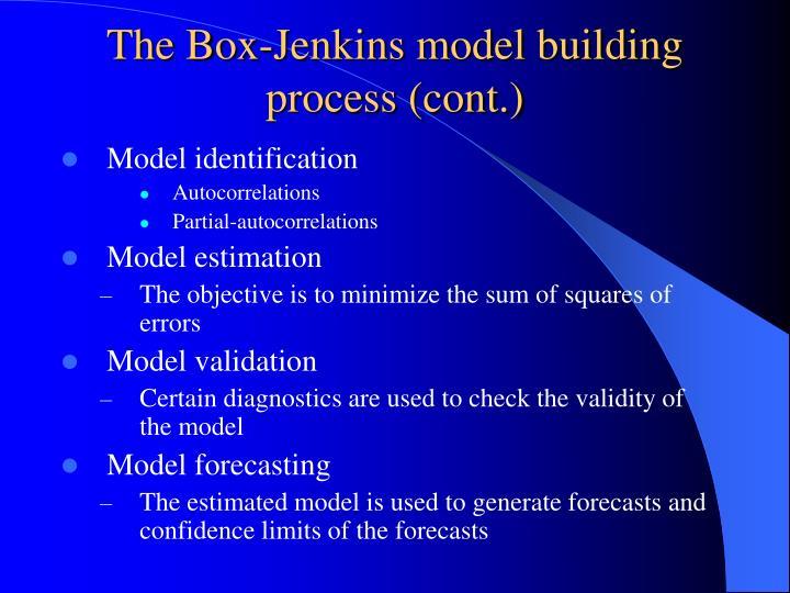 The Box-Jenkins model building process (cont.)