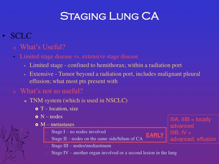 Staging Lung CA