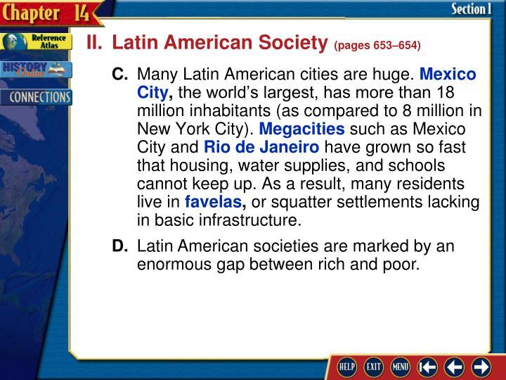 II.Latin American Society