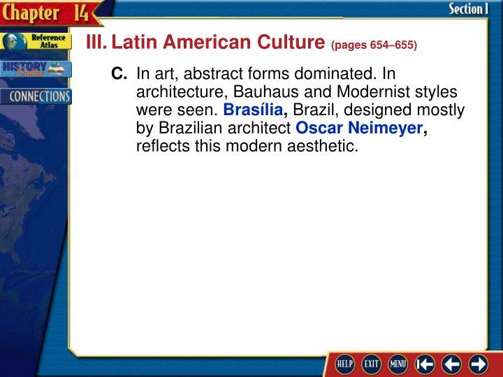 III.Latin American Culture