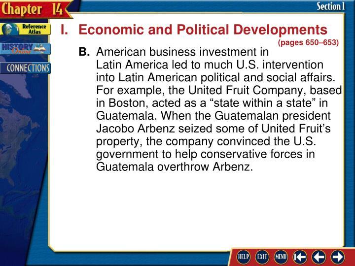 I.Economic and Political Developments