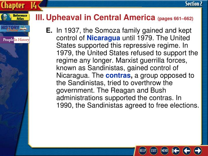 III.Upheaval in Central America