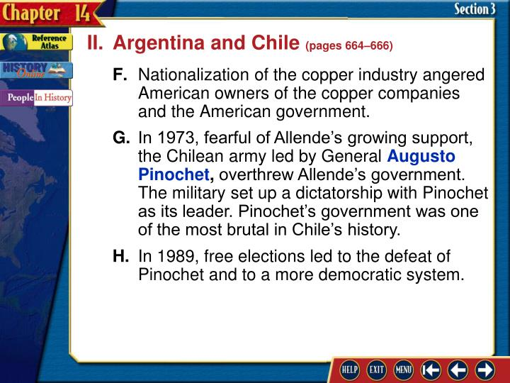 II.Argentina and Chile