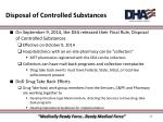 disposal of controlled substances1
