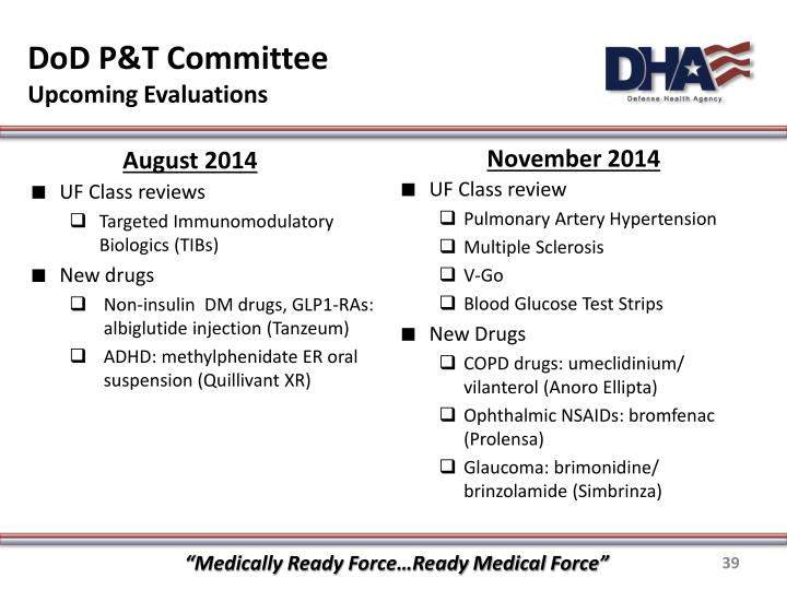 DoD P&T Committee