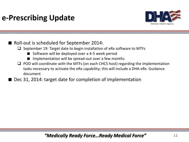e-Prescribing Update