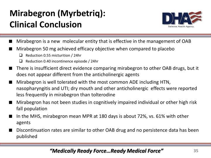 Mirabegron (Myrbetriq):
