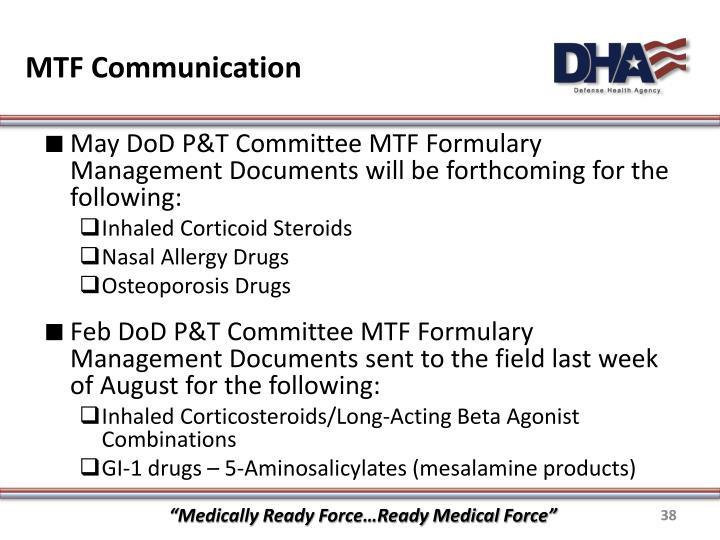 MTF Communication