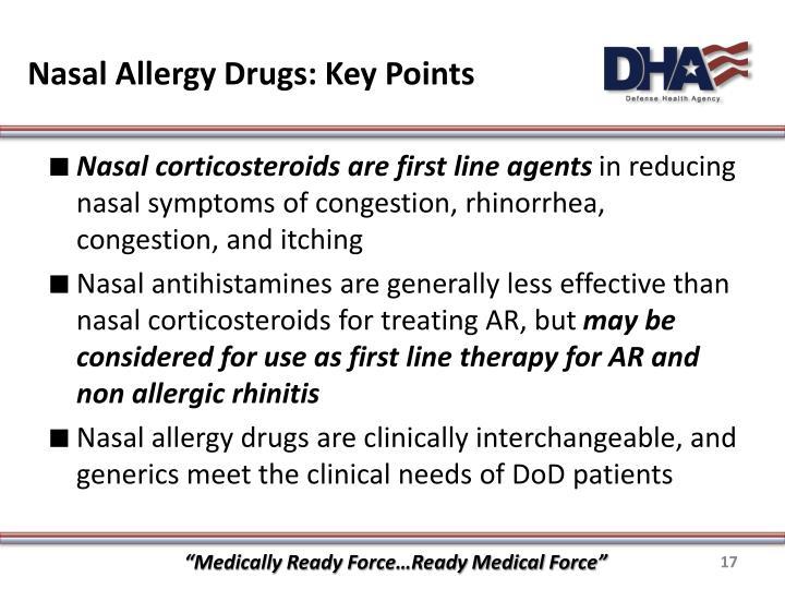 Nasal Allergy Drugs: Key Points