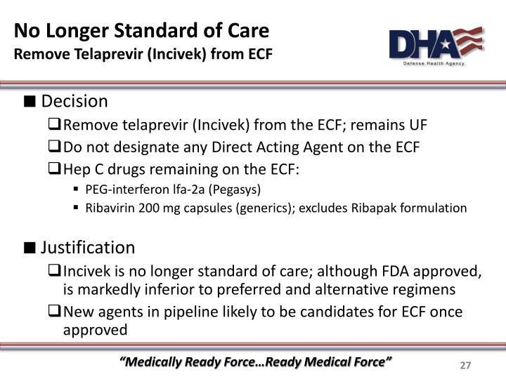 No Longer Standard of Care
