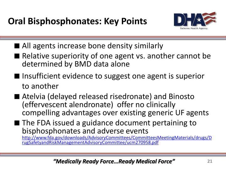 Oral Bisphosphonates: Key Points
