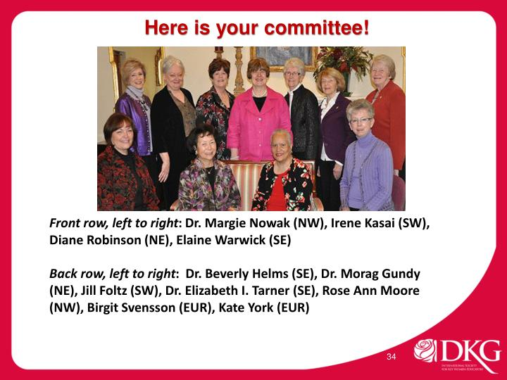 Here is your committee!