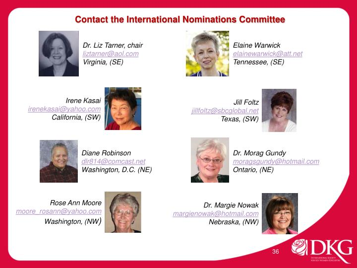 Contact the International Nominations Committee