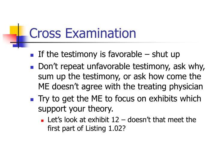 Cross Examination