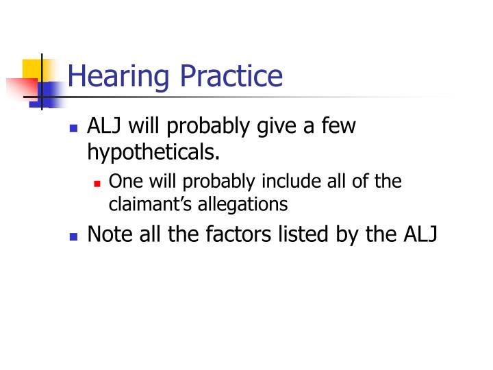 Hearing Practice