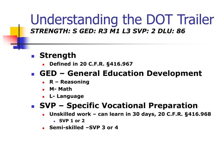 Understanding the DOT Trailer