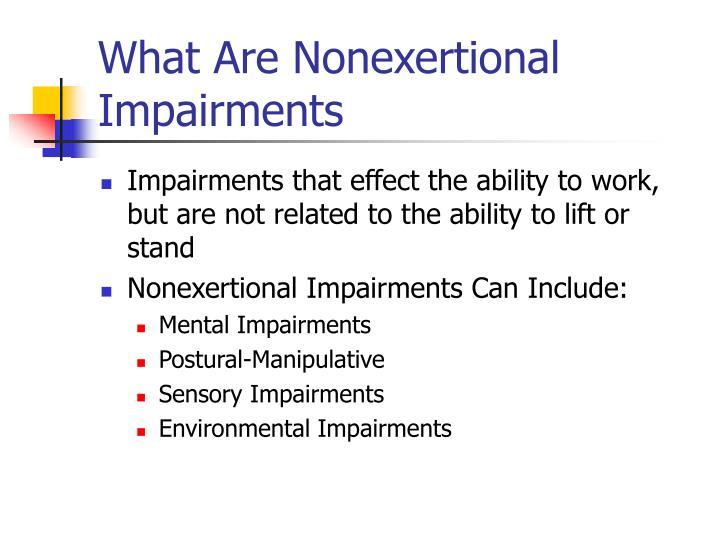 What Are Nonexertional Impairments