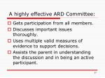 a highly effective ard committee