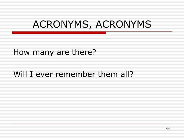 ACRONYMS, ACRONYMS