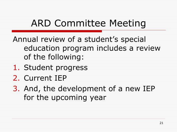 ARD Committee Meeting