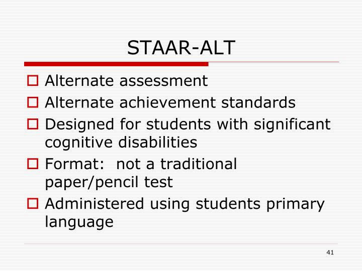 STAAR-ALT
