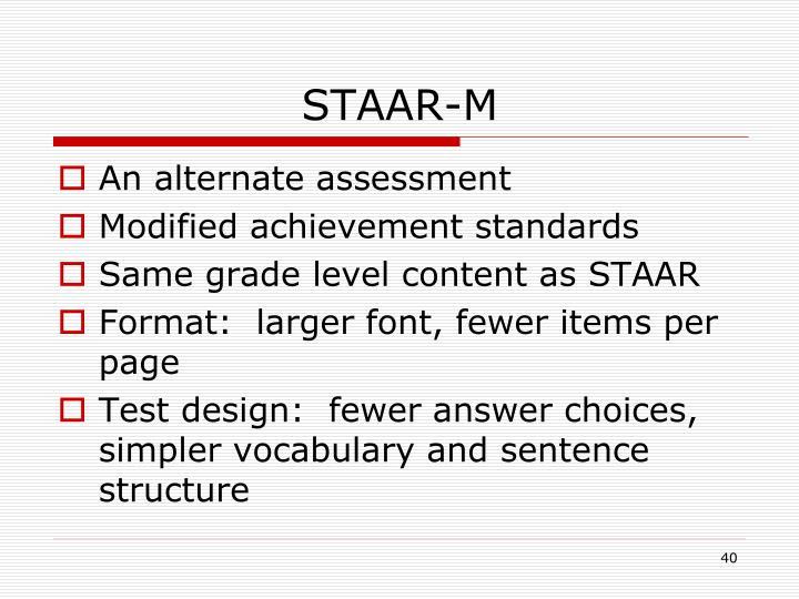 STAAR-M