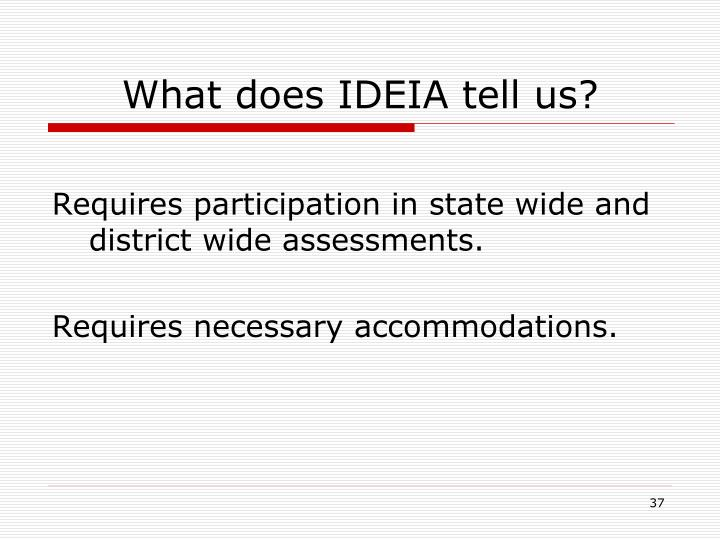 What does IDEIA tell us?