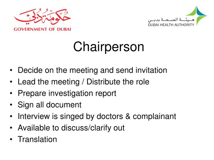 Chairperson