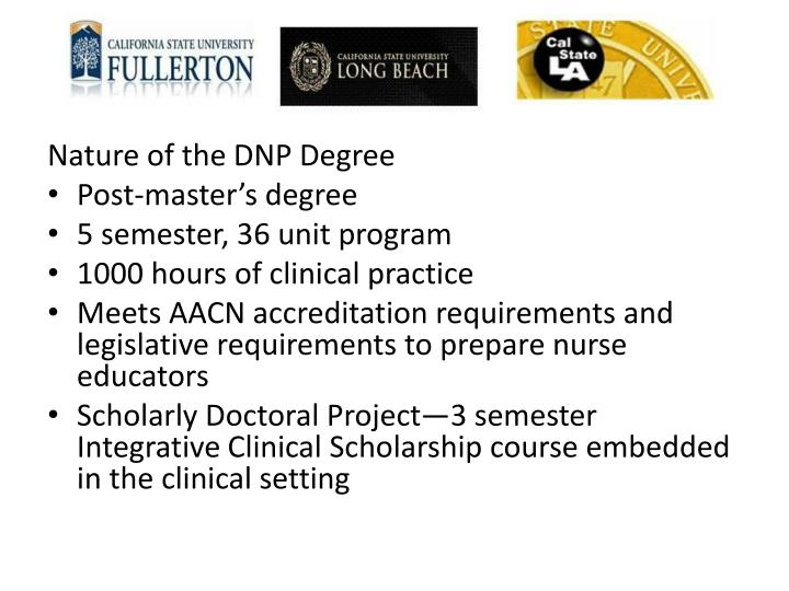Nature of the DNP Degree