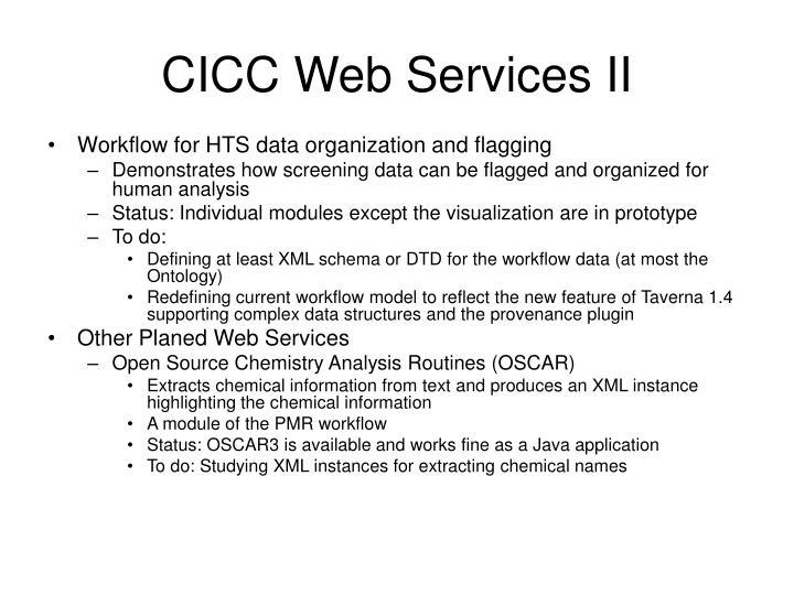 CICC Web Services II