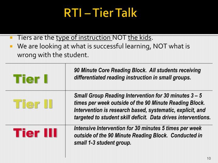 RTI – Tier Talk