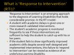 what is response to intervention rti