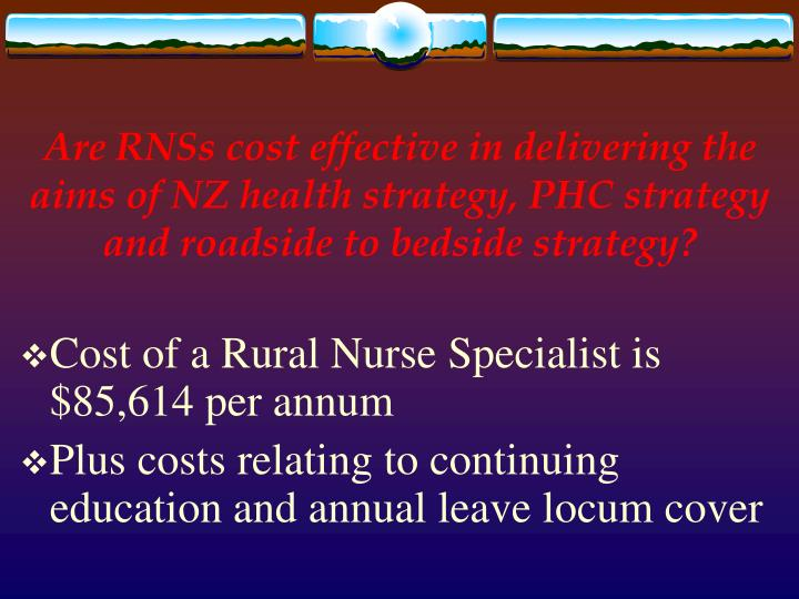 Are RNSs cost